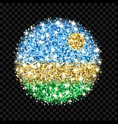 rwanda flag sparkling badge vector image
