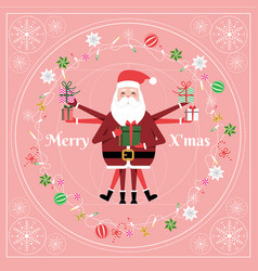 Santa claus cartoon character for merry christmas vector