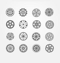 set different rims vector image