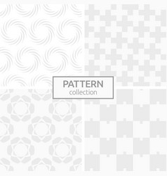 set of four abstract geometric seamless patterns vector image
