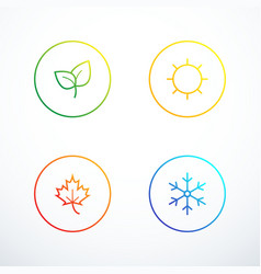 set of season icons vector image