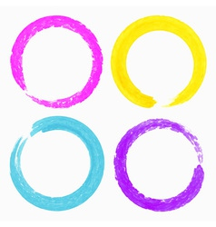 set watercolor colorful grunge circle stains vector image