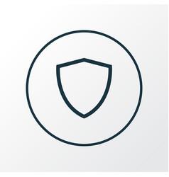 shield icon line symbol premium quality isolated vector image