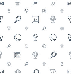 Shiny icons pattern seamless white background vector
