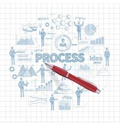 Sketch Business Concept vector