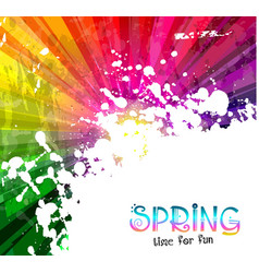 Spring Colorful Explosion of colors background for vector image