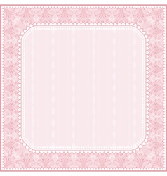 square pink background with decorative ornaments vector image