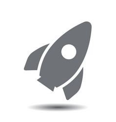 startup rocket icon vector image