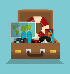 Summer vacations holidays icons vector