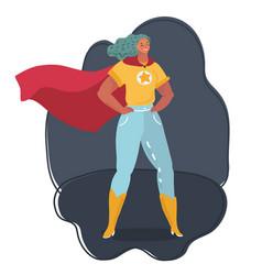 Superhero woman wearing costume vector