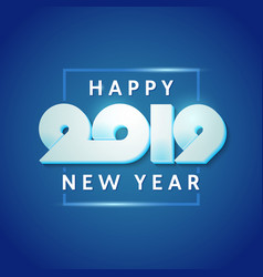 text design of happy new year 2019 vector image