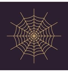 The spiderweb icon web symbol flat vector