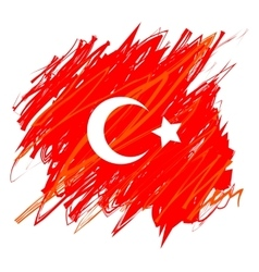 Turkish National Flag vector image