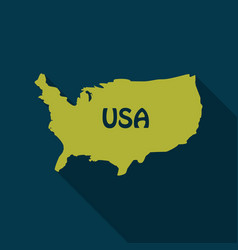 Usa map in flat style with shadow vector