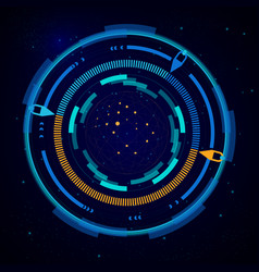 virtual target digital eye hud ui futuristic vector image