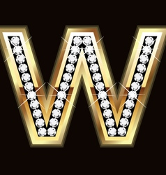 w bling vector image