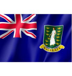Waving national flag british virgin islands vector