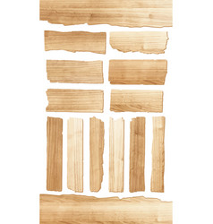 wood plank isolated on white background vector image