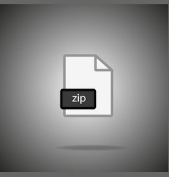 zip icon zip format symbol zip sign vector image