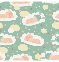 Baby theme seamless pattern vector image vector image