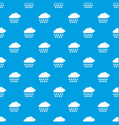 cloud and rain pattern seamless blue vector image