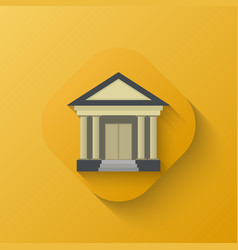 court house icon vector image