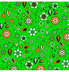 funky flowers pattern vector image vector image
