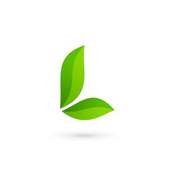 letter l eco leaves logo icon design template vector image vector image