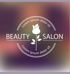 logo template label or badge for beauty vector image vector image