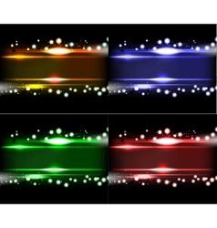 Set Purple Smooth technology light lines vector image