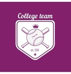 vintage color baseball championship logo or badge vector image vector image