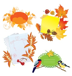 autumn frames vector image