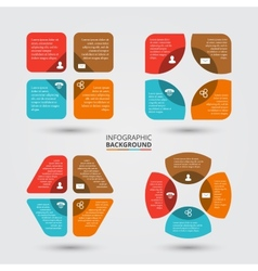circle elements set for infographic vector image vector image