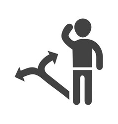 decision making skills vector image