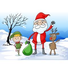 Santa and friends vector image