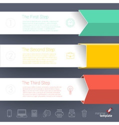template for infographics vector image vector image