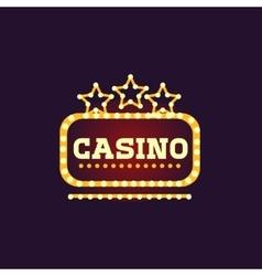 Yellow Casino Square Neon Sign vector image vector image