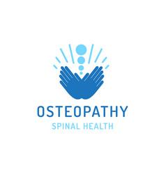flat logo osteopathy vector image