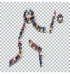 people sports baseball vector image vector image