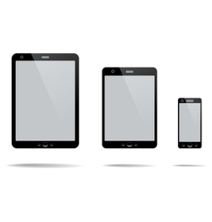 Tablet Computer Mobile Phone vector image vector image