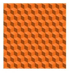 abstract seamless backgroynd 3d cubes vector image vector image