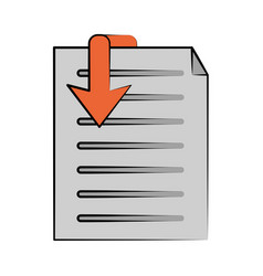 document download icon image vector image vector image