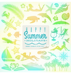 Rest vacation and travel set vector image vector image