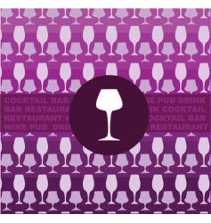 wine glass background vector image vector image