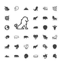 33 africa icons vector