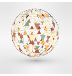 3d globe with triangular vector