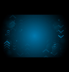 abstract blue geometric shape with technology vector image