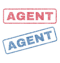 Agent textile stamps vector