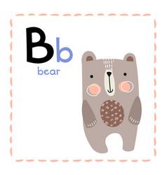 Alphabet letter b for b for kids vector