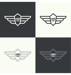 Badge with wings vector image